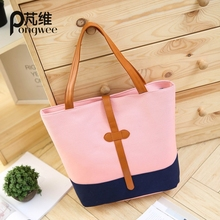 цены PONGWEE Women Canvas Messenger Bags Handbags High Quality Lady Shoulder Bag Designer Female Bolsos Mujer Canvas Tote Bags