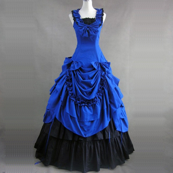 4 Colors Summer Princess Party Dress High Quality 18th Century Retro Gothic Victorian historical masquerade Ball Gowns Costumes