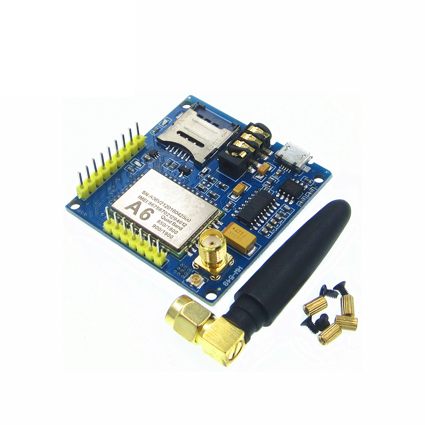 GPRS A6 Module, Text Messages, Development Board GSM GPRS Wireless Data Transmission Of Super SIM900A