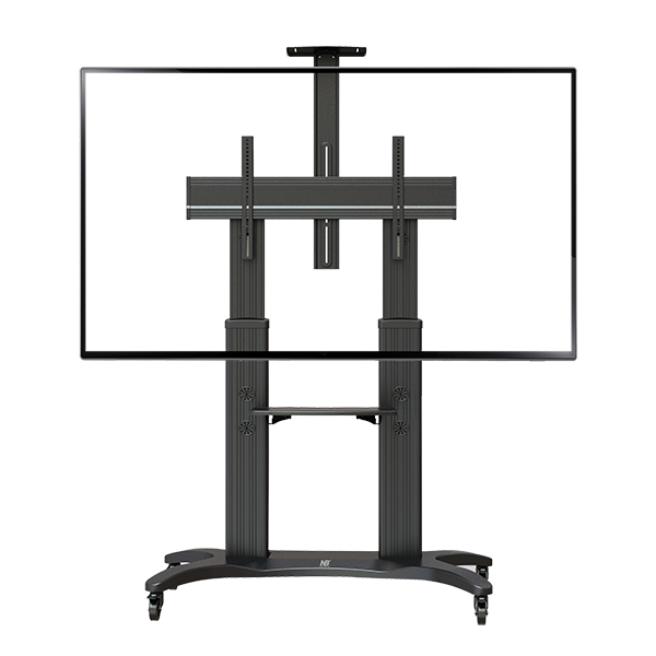 "Aluminum Alloy NB AVF 1800-70-1P TV Mobile Cart Free Lifting 55""-80"" LED LCD Plasma TV Trolley Stand With AV Shelf Camera Holder"