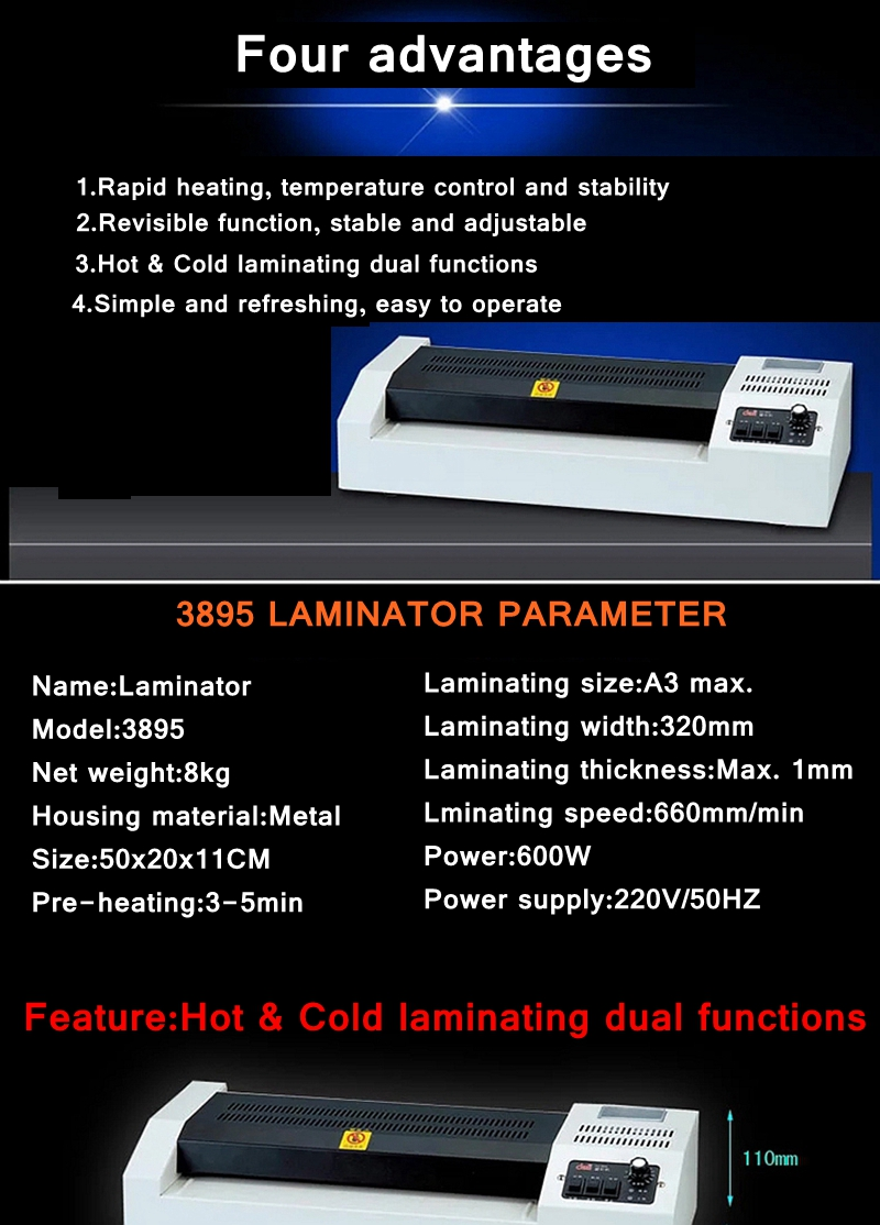 a3 tamanho foto documentos laminador temprature adjust320mm 660 mm min metal habitação