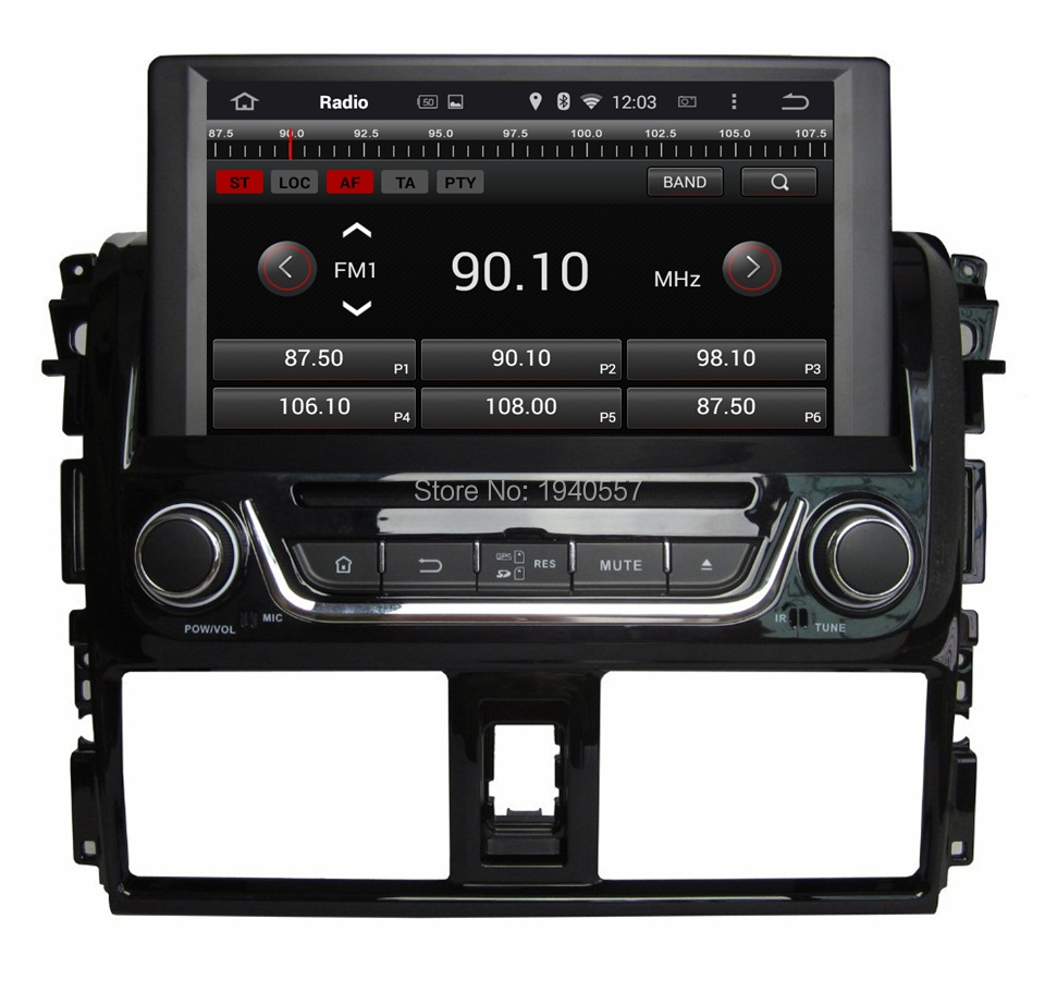 Quad Core Android 5 1 HD 2 din 8 Car Radio dvd gps for Toyota Yaris