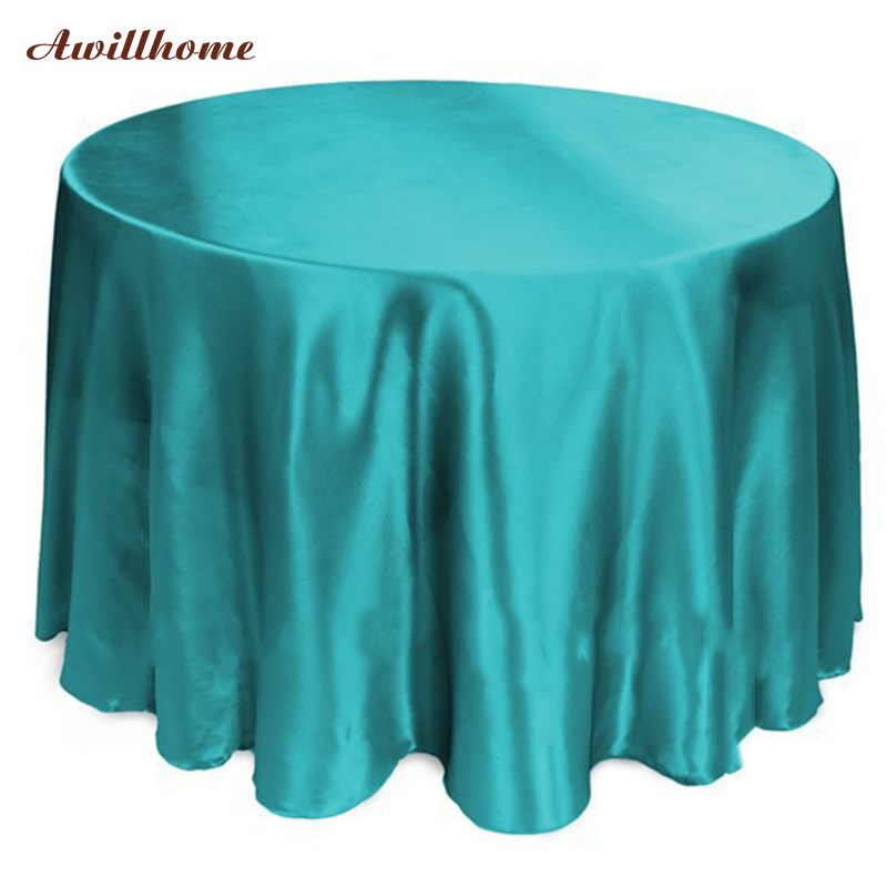 free shipping 108in tablecloth white round table cloths satin table cloth table linen