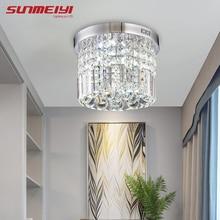 Современный хрустальный светодиодный потолочный светильник, светильник для внутреннего освещения, лампа для поверхностного монтажа, потолочный светильник для спальни, столовой