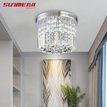 Современный хрустальный светодиодный потолочный светильник, комнатная лампа lamparas de techo, поверхностный монтаж, потолочная лампа для спальни, столовой