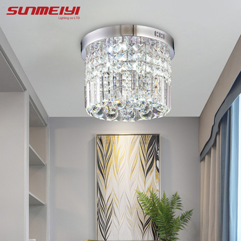 Modern Crystal LED Ceiling light Fixture For Indoor Lamp lamparas de techo Surface Mounting Ceiling Lamp For Bedroom Dining Room 2017 surface mounted modern led ceiling lights for living room fixture indoor lighting decorative lampshade lamparas de techo