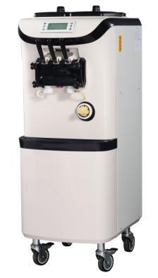 Grand volume deux et un torsadé 42L machine à crème glacée vendeur de crème glacée molle arc panneau avant conception circulation d'air par le bas