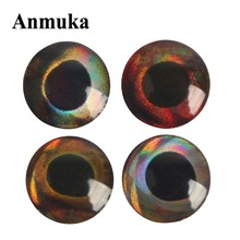 Anmuka 400pcs DIY 3D Fishing Lure Eyes Fly Eyes 5.8MM Realistic Artificial Simulation Fish Eye Sliver Gold Red Minnow Lure Stick