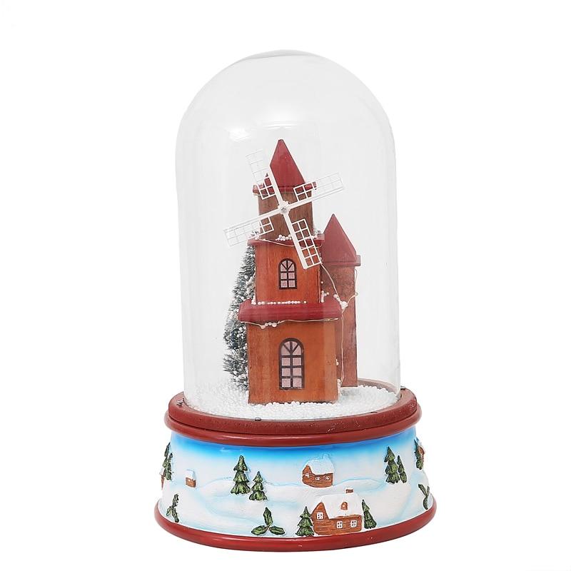 Hot Selling Nieuwste 2019 Kerstcadeautjes met Muziek Lichten Drijvende Sneeuw Glas Cover Romantische Kerstavond Gift Pakket Mail - 2