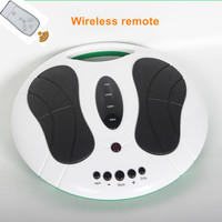 foot massager electric machine reflexology spa with infrared heating low frequency pulse acupuncture EMS TEN circulation booster