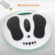 Massageador de pés elétrico reflexologia spa, máquina elétrica de reflexologia com aquecimento infravermelho de baixa frequência, acupuntura de pulso ems, impulsionador de circulação de dez