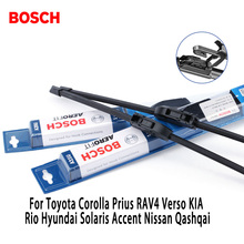 2pieces/set Bosch Wiper Blades For Toyota Corolla Prius RAV4 KIA Rio Hyundai Accent Nissan Qashqai i40 26″&16″Fit Hook Arms