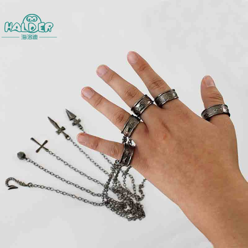 Hunter X Hunter Kurapika 5 Fingers Bracelet Metal Cosplay Toy
