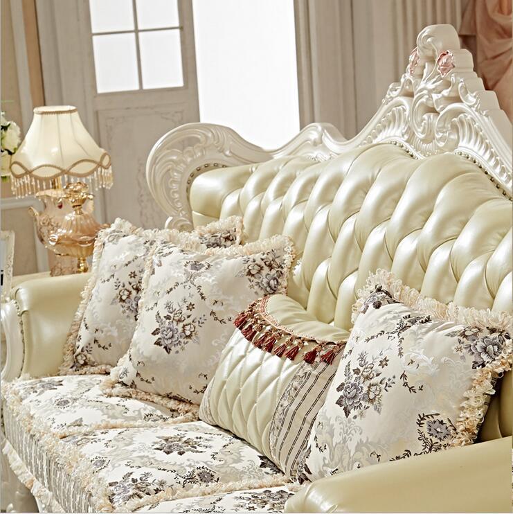 Купить с кэшбэком high quality  European  antique living room sofa furniture genuine leather set pfy10014