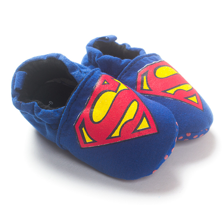 Minion big hero cute superman characters baby shoes indoor floor baby slippers soft cloth bottom crib shoes infant toddler shoes