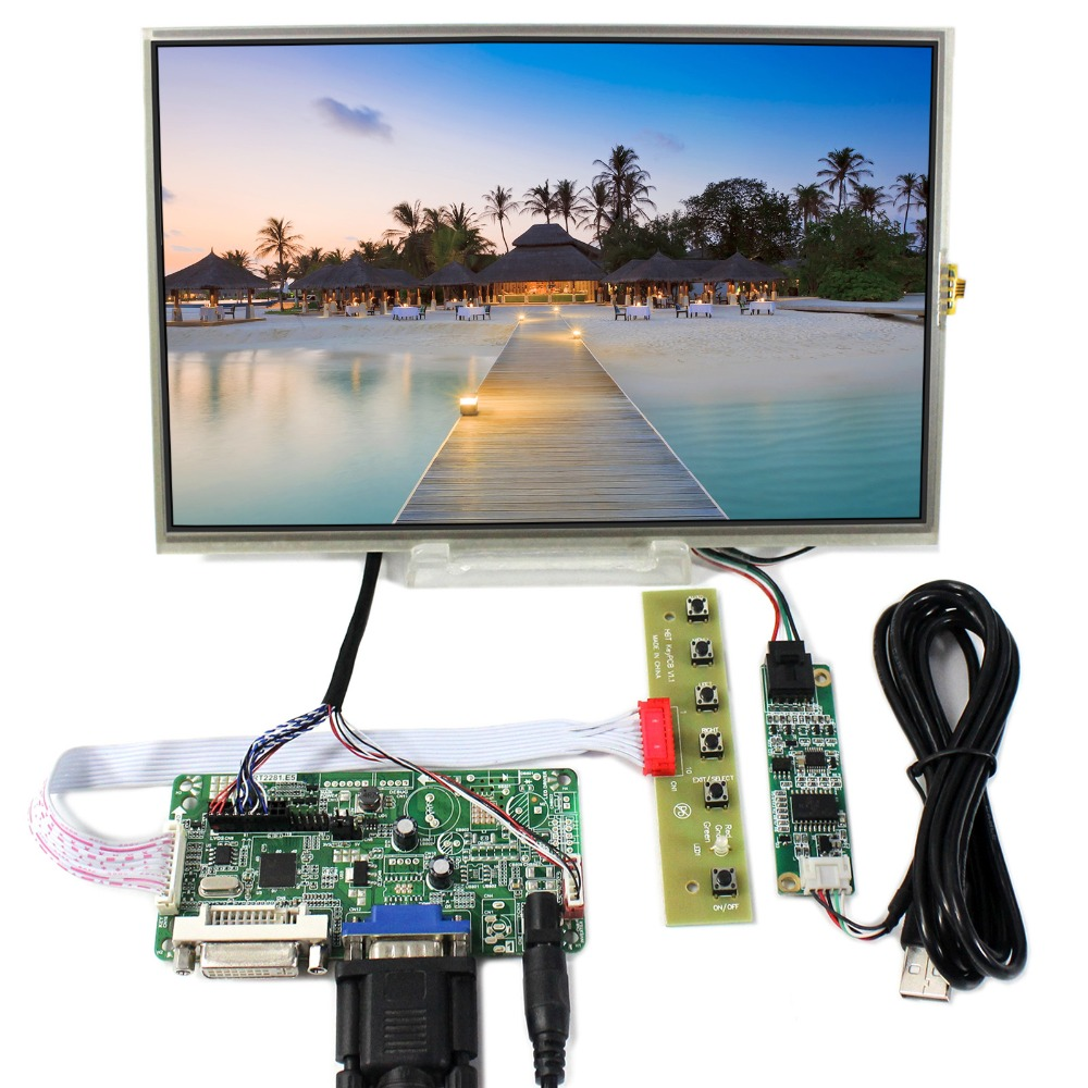 все цены на DVI VGA LCD Controller Board With 10.1inch 1280x800 B101EW05 LP101WX1 Touch LCD Screen