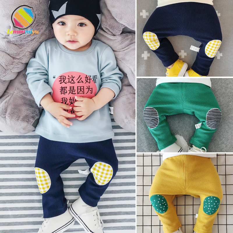 Lemonmiyu Baby Full Length Pants 2018 Autumn Warm Knitted Baby Boy Pants Cartoon Casual Newborn PP Toddler 0-3T Elastic Pants baby pants cartoon baby boy girl pp pants spring autumn cotton baby harem trousers newborn cute warm fashion casual baby clothes