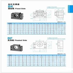 Image 5 - Extremidade ballscrew suporta 1pc bk12 + 1pc bf12 1605 1610 ballscrew final suporte 10mm peças cnc para sfu1605 sfu1610 bk10 bf10 forsfu1204