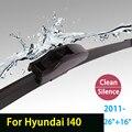 """Limpiaparabrisas cuchillas para Hyundai I40 (desde 2011 en adelante) 26 """"+ 16"""" estándar fit J gancho limpiaparabrisas armas sólo HY-002"""