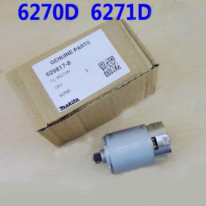 Replacement 12V 14Teeth DC Motor For Makita Electric hammer 6270DWE 6271D. High-quality! replacement 12v 14teeth dc motor for makita electric hammer 6270dwe 6271d high quality
