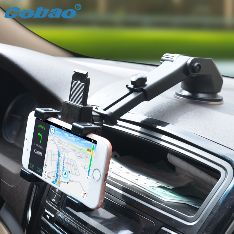 Cobao Universal Car Phone holder for Xiaomi max 2 iPad mini Windshield Mobile Phone Holder mount Cell phone holder stand