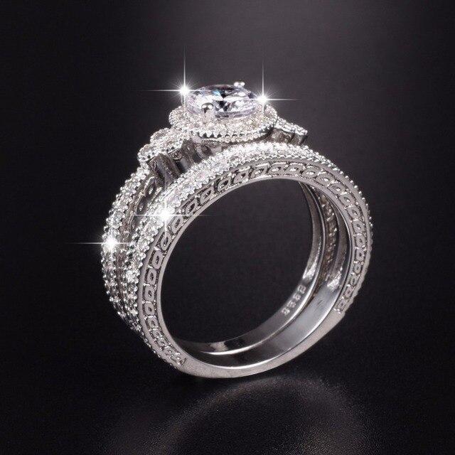 ring Simulated platnium vintage