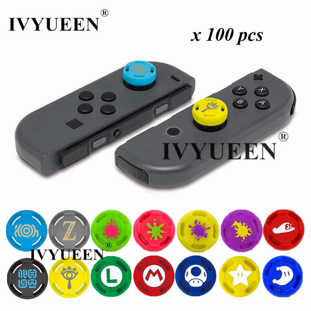 Responsible Ivyueen 100 Pcs Analog Stick Grips For Nintend Switch Ns Joy-con Thumbsticks Cap For Joycon Joystick Protective Caps Accessories Carefully Selected Materials Consumer Electronics