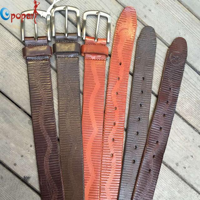Correia dos homens de Moda de Nova Fivela de Metal Cinto De Couro Cowskin Vintage Clássico Pin Buckle Cintos de design Para Homens Dropshipping PB276