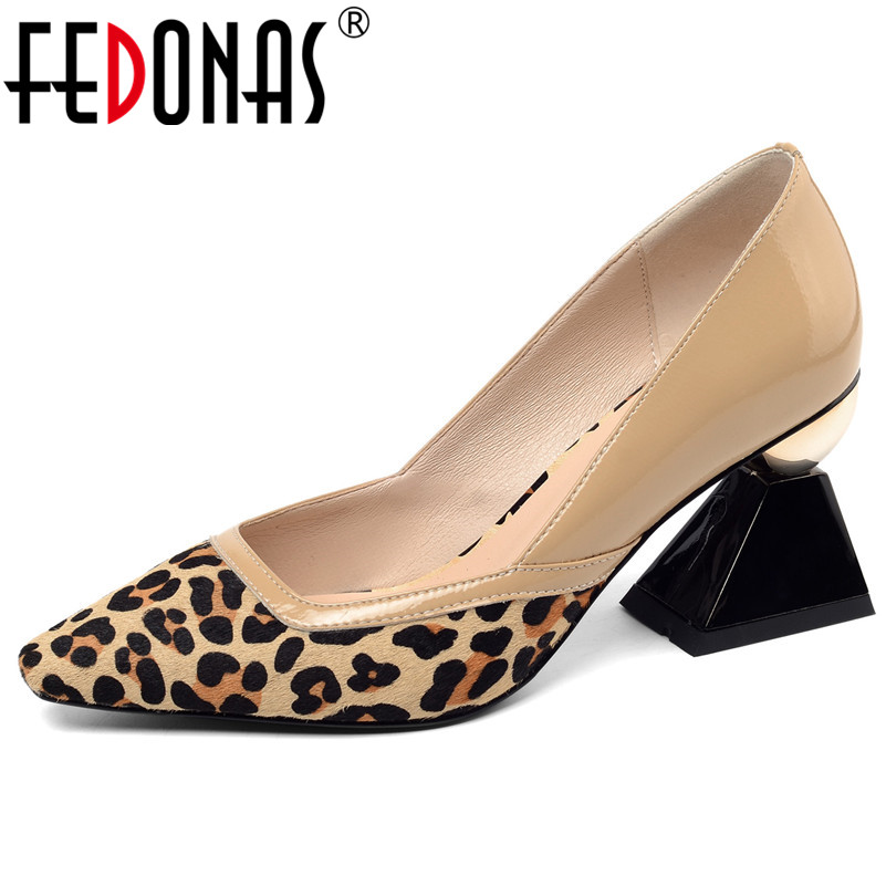 FEDONAS Women 2019 Spring Summer Rome Women Pumps Fur Shallowed Casual Party Shoes Fashion Strange Heeled