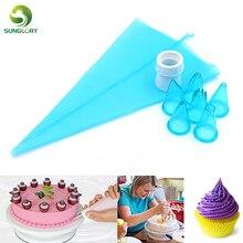 Cake Decorating Piping Bag Set Kit Plastic Pastry Eco-Friendly Tools 8pcs/Set 100% Food Grade  Free Shipping