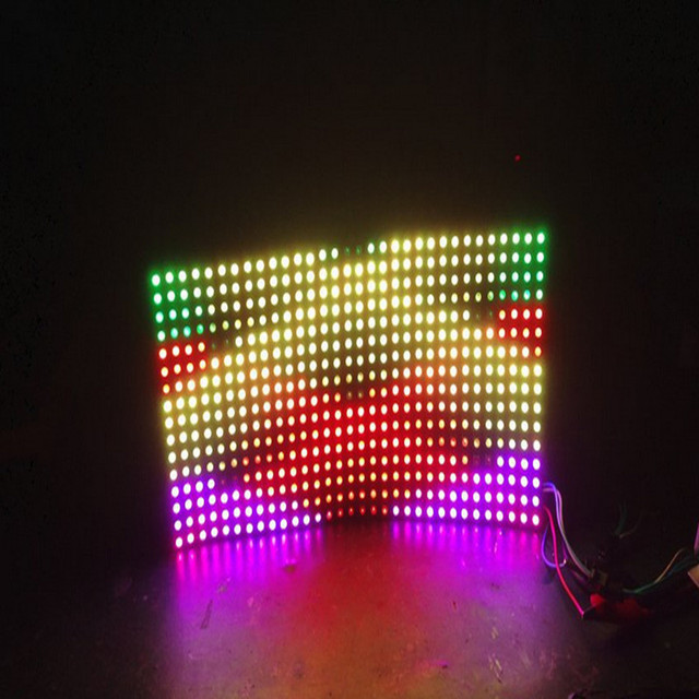 DC5V 16*16 Pixel WS2812B 256 leds WS2812B Digital LED Flexível Painel de led módulo 1 pc navio livre