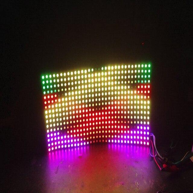 P10mm 16*16 pixels 256 LED s flexible mini matrice de LED ws2812 WS2812b LED bande lumineuse 144 LED s/m IC