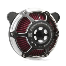 Motorcycle PM Air Cleaner intake filter For Harley Touring Street Glide roadking electra 08-16 black цена и фото