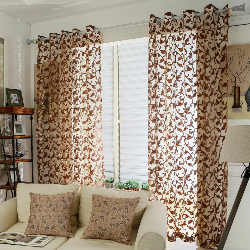 Online Get Cheap Sheer Brown Curtains -Aliexpress.com | Alibaba Group