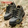 ZHJLUT Escalada dos homens Novos de Moda Casual Sapatos de inverno Dos Homens Plus Size Sapatos de Couro À Prova D' Água 816