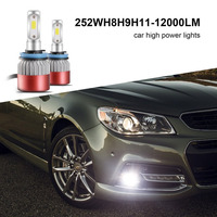High Quality Car Styling LED Headlights Bulbs Compatible Effective Decoder Easy Installation Waterproof 252W 12000LM H8
