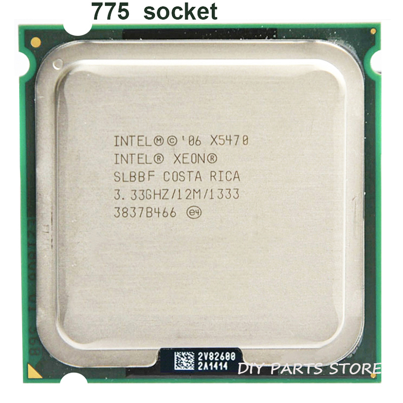 INTEL XONE X5470 CPU INTEL X5470 PROCESSOR 775 quad core 3.3MHZ LeveL2 12M Work on 775 motherboard