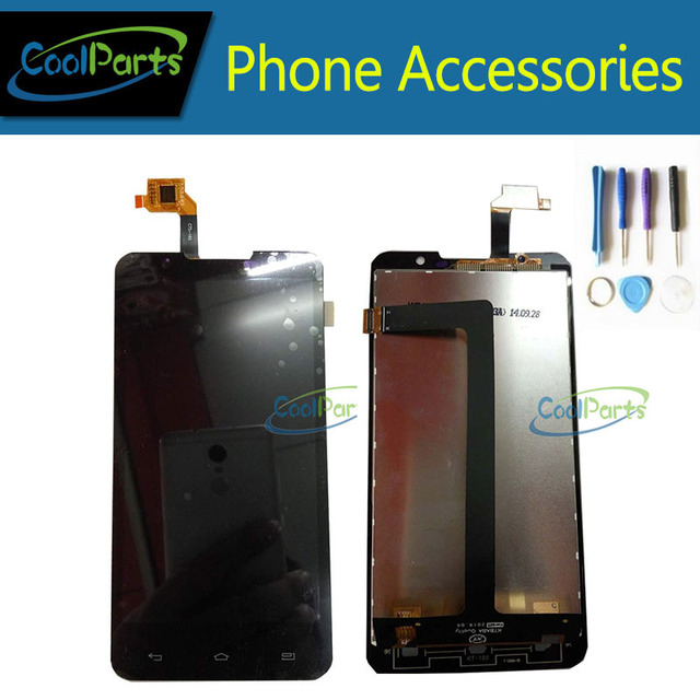 1PC/Lot High Quality For Highscreen Alpha R LCD Display And Touch Screen Digitizer Assembly Replacement With Tools Black Color