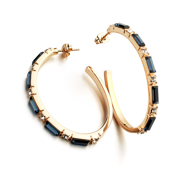 ITALINA New Designer Vintage Jewelry Women Austria Crystal Hoop Earrings Red Apple Brand Fashion Jewelry