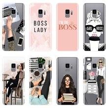 Девушка босс розовый женский чехол для телефона для samsung Galaxy Note 9 8 5 4 силиконовая Мягкая задняя крышка для samsung S8 S9 Plus S5 S6 S7 Edge