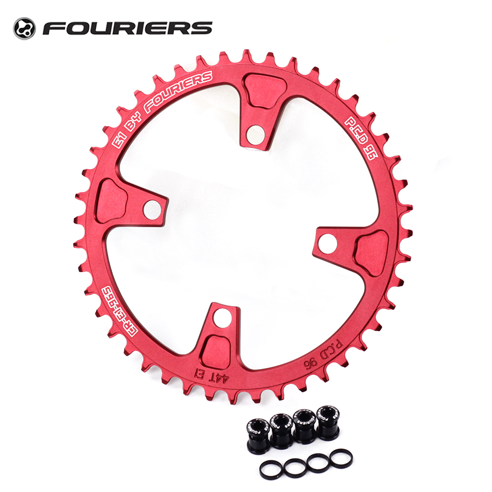 Fouriers MTB Bike Single Chainring BCD 96mm Chain Ring For Deore M3000 M525 with Bolts Narrow