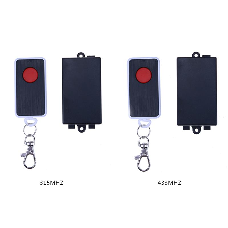 AC220V 1CH Relay Wireless Remote Control Switch Receiver Transmitter 315/433MHz LED Single Button Switch wireless pager system 433 92mhz wireless restaurant table buzzer with monitor and watch receiver 3 display 42 call button