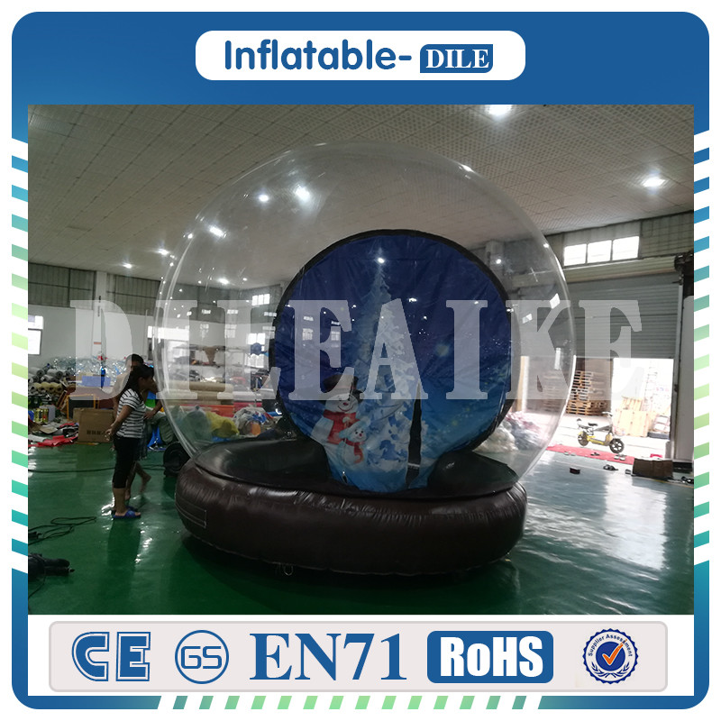 Lodge Balloon Outdoor Air Log Cabin House Camping Transparent Igloo Dome Clear Bubble Inflatable Tent
