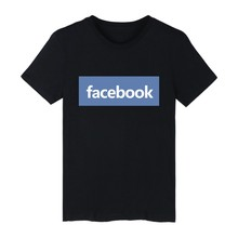 Facebook Short Sleeve Simple Tshirt Women Fashion And Hip Hop Style Cotton Luxury In Plus Size 4XL Men Funny Tee Shirt