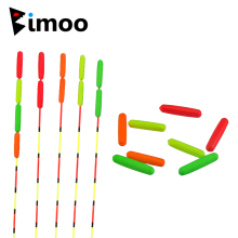 Bimoo 10st Small EVA Cylinder Rig Float Fiske Float Tips Visuell Bönor Röd Orange Gul Grön Stoppar Terminal Tillbehör