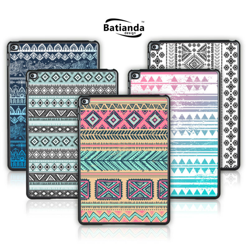 Batianda For Apple iPad air Case Tribal Stripes Pattern Tablet Cover For iPad 5 Hard Back Shell Screen Film Gift