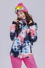 2018 Gsou Snow Women Ski Jacket Windproof Waterproof Snowboard Jacket Skiing Clothing Outdoor Sport Wear Thermal Female Jacket