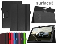 New Luxury 2 Folding Folio Stand Holder Leather Case Protective Cover For Microsoft Surface 3 Surface3