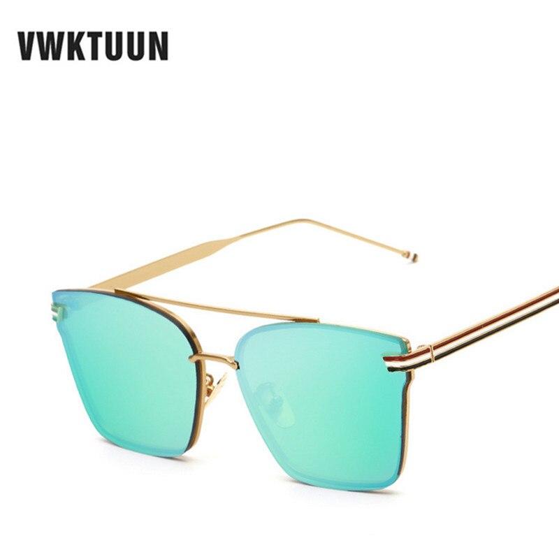VWKTUUN Mode Femmes Carré lunettes de Soleil Vintage Rétro Double-poutres  Lunettes De Soleil De Luxe Brand Design Étoile Style lunettes de soleil  femme 91de1a4fa84e
