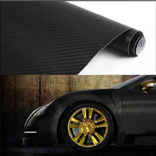 Car Styling 3D Carbon Fiber Vinyl Film stickers20x127cm Motorcycle Car Sticker Decal for ford  focus vw lada bmw audi opel